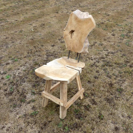 Holz Stuhl Teak massiv Designstuhl Teakholz & Treibholz