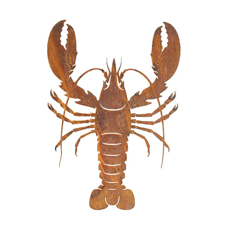 Hummer Deko Metall Rost Krebs Lobster
