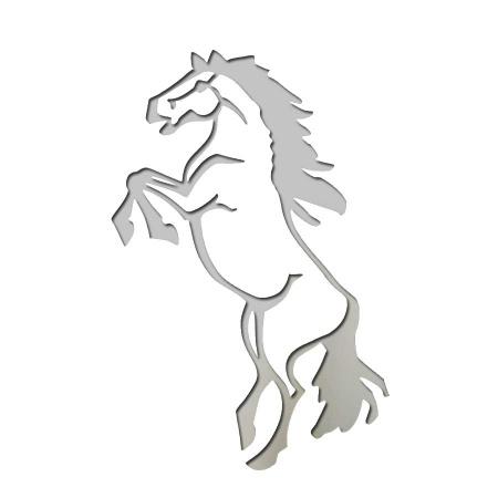 Steigendes Pferd aus Edelstahl als Wandbild