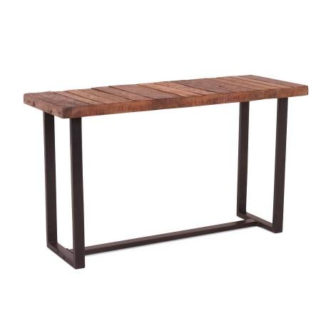 Konsole Holz Metallgestell Vintage 130 cm