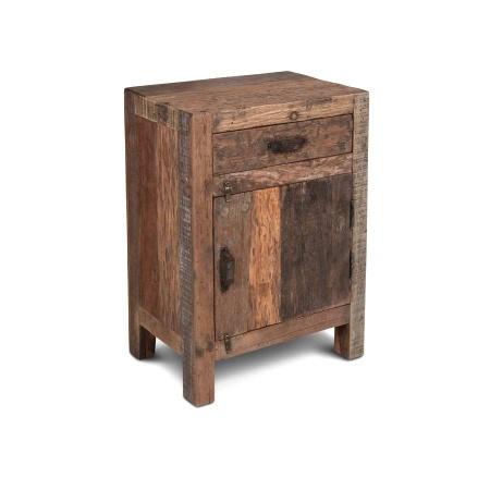 Nachttisch Altholz Kommode Vintage Look