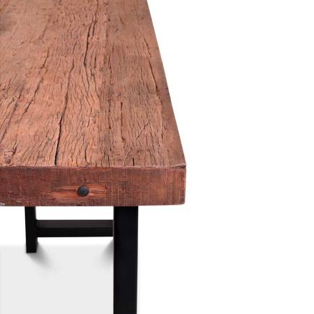 Vintage Bartisch Holz in 175 cm Breite und einer Höhe von 108 cm