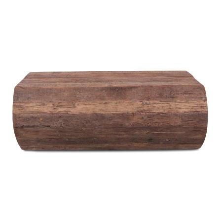Baumstammlook Couchtisch als Vintage Holzblock in 110x60 cm