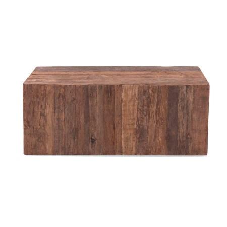 Holz Block Couchtisch MassivO Vintage 120x60 cm