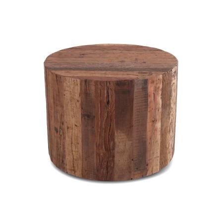 Baumstamm Beistelltisch aus der MassivO Vintage Holz Serie mit 60 cm Durchmesser