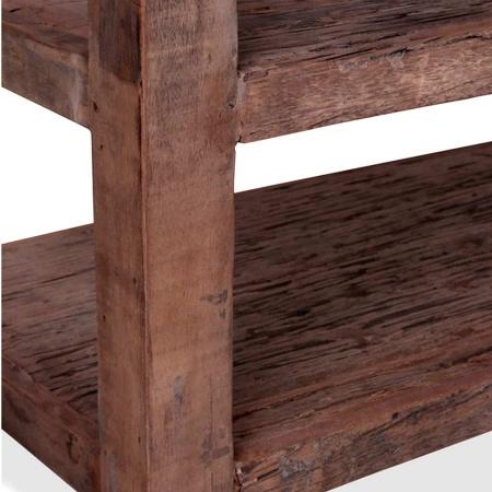 TV Lowboard Vintage Holz MassivO 3 offene Ablagen 160 cm