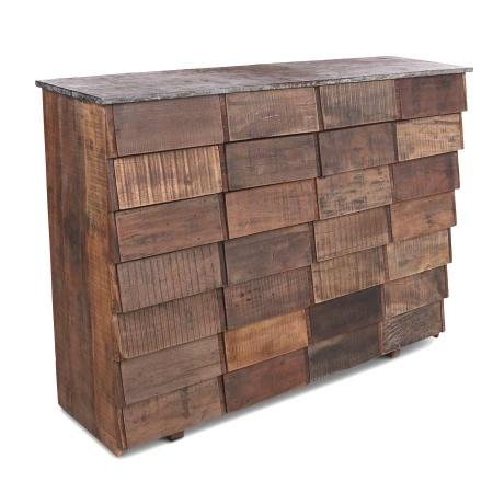 Vintage Kommode aus Altholz wie Teak in einer Breite von 150 cm