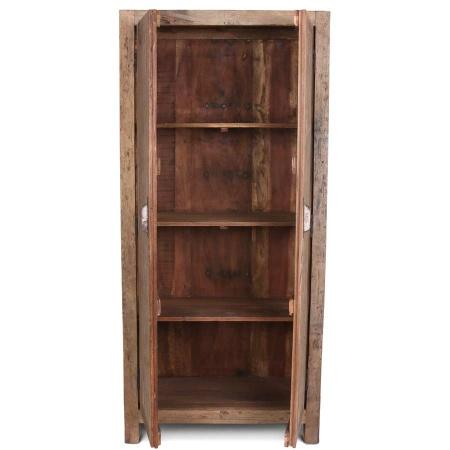 Holz Schrank gebürstet Vintage MassivO 2 Klapptüren 195 cm