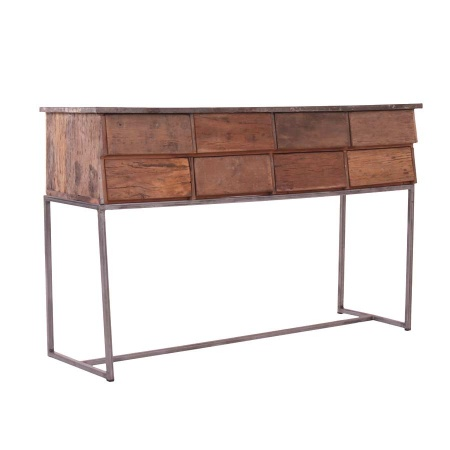 Holz Anrichte industrial Wandtisch Konsole MassivO 146 cm