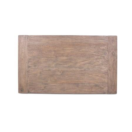 Tischplatte Teak Massivholz Lea Grey Wash 120 x 70 cm