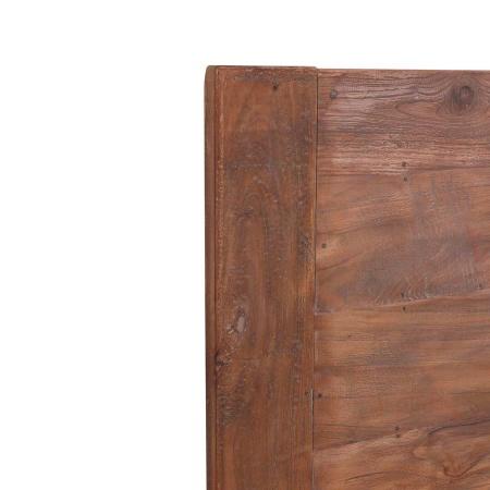 Teak Holz Tischplatte Lea natural quadratisch 70 cm