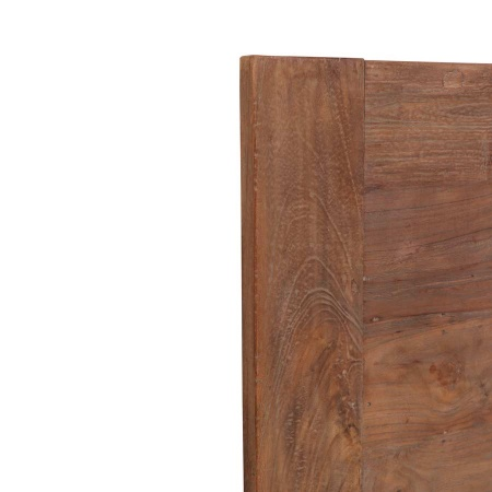 Teakholz Tischplatte Lea natural quadratisch 80 cm