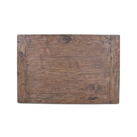 Tischplatte recyceltes Teak Holz Lea Grey Wash 120 x 80 cm