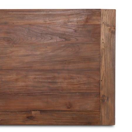 Teak Platte Holztisch in circa 180x90 cm massiv Dengkleh aus der Lea Serie