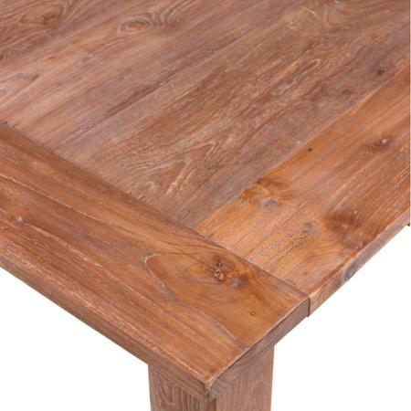 Esszimmertisch aus massivem Teak Holz in 220 cm aus der Lea Möbelserie