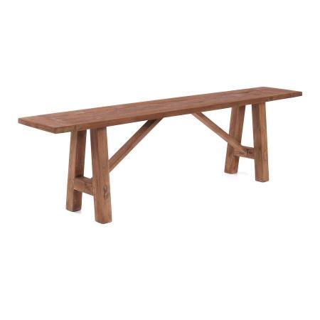 Sitzbank Holz für die Küche oder Esszimmer aus der Teakholz Serie Lea rustikal