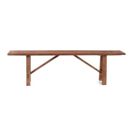 Holzbank Teak massiv für den Esstisch in 180 cm Breite