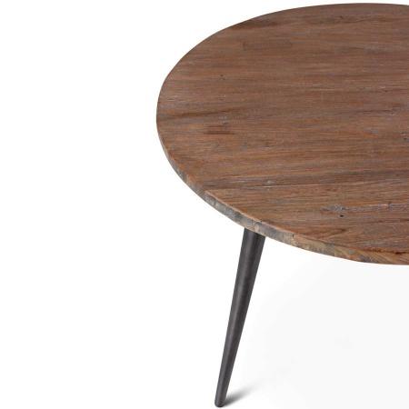 Massivholz Tisch Silk Teak rund 90 cm