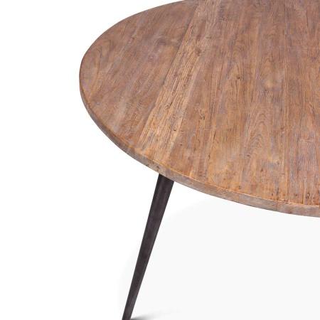 Teak Tisch Silk Vintage Stil rund 130 cm