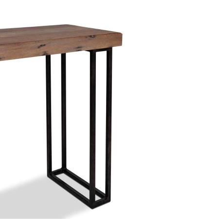 Holz Schreibtisch Noby Industrie Design Metall 45 cm tief