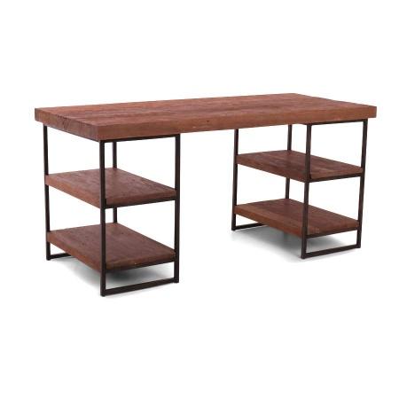 Teak Holz Schreibtisch Noby industrial 160 cm