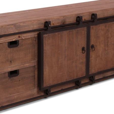 Holz TV Board Tivy Kiefer 200 cm