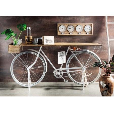 Fahrrad Tisch Konsole Landhaus weiss