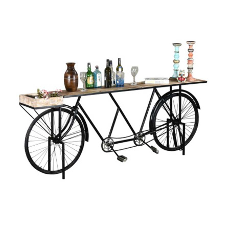 Fahrrad Vintage Konsole Tisch Tandem 225 cm