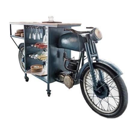 Motorrad Bar Regal Tresen Tisch 220 cm