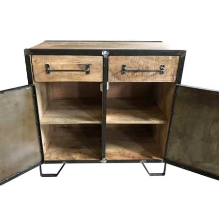 Holz Sideboard industriell Shabby Mary Mango 80 cm
