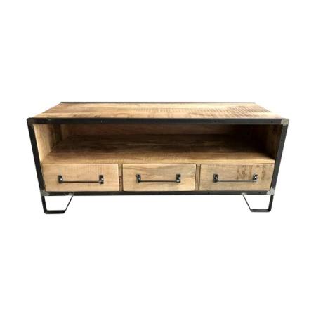 Holz TV Lowboard industrial Mary Mango massiv 120 cm