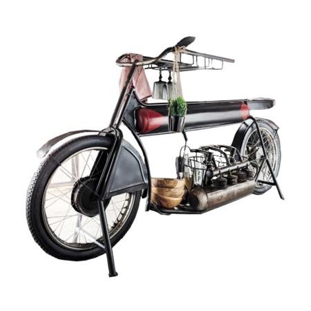 Motorrad Bike Design Bar Weinregal mit Glashalter 183 cm