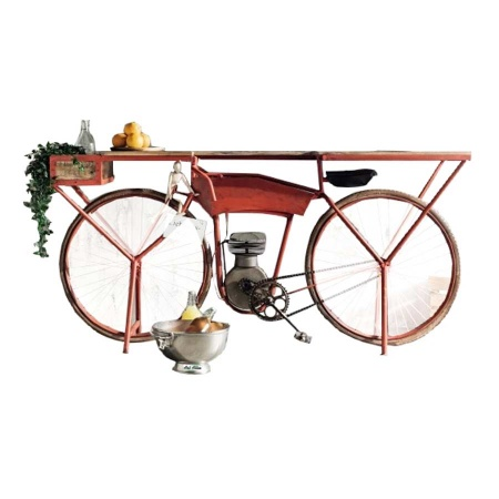 Fahrrad Moto Bike Konsole Tisch mit Korb 183 cm