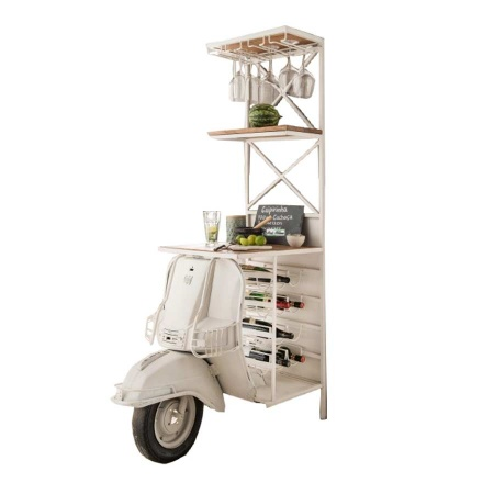 Scooter Weinregal Bar Regal Landhaus weiss 180 cm