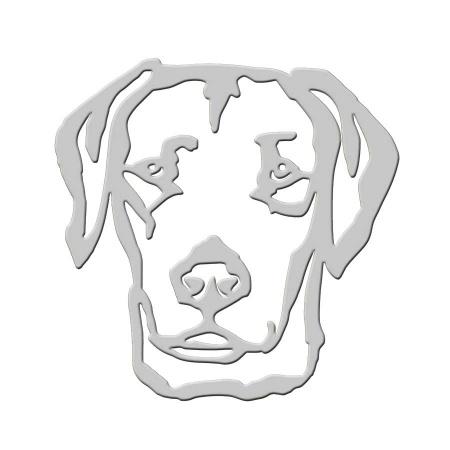 Labrador Retriever Edelstahl Deko Wandbild