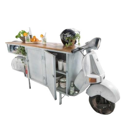 Scooter Vintage Sideboard Landhausstil weiss 245 cm
