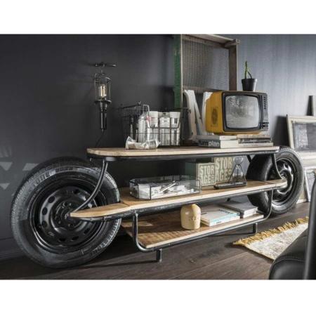Vintage TV Board Streetking industrial Lowboard 210 cm