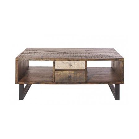 Couchtisch Vintage Holz Multy Schubladen 120x70 cm