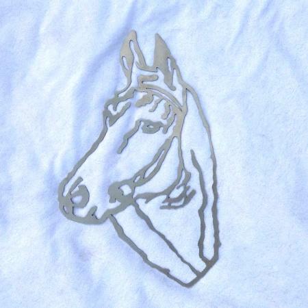 Edelstahl Pferdekopf Wandbild Deko Pferd rostfrei