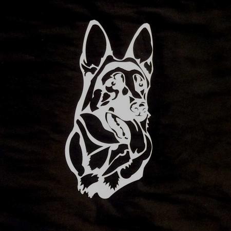 Schäferhund Edelstahl Wanddekoration rostfrei