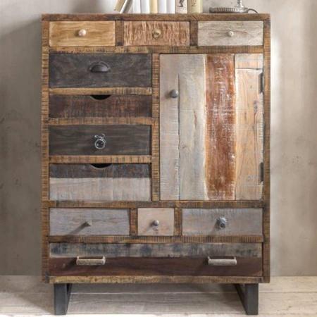 Hochkommode Vintage Holz Multy 11 Schubladen