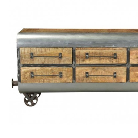 Industrial TV Anrichte Holz Metall Sideboard 150 cm