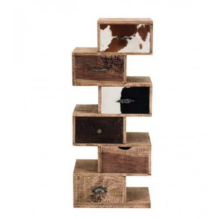 Kommode Schubladen Regal Massivholz 120cm hoch
