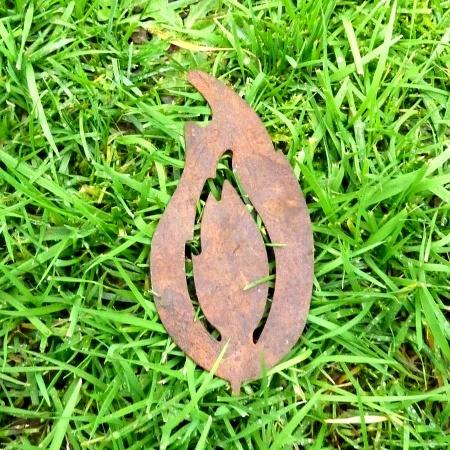 Edelrost Kerzen Flamme Metall 13 cm