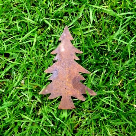 Tannenbaum Weihnachtsdeko Metall zum basteln 12 cm
