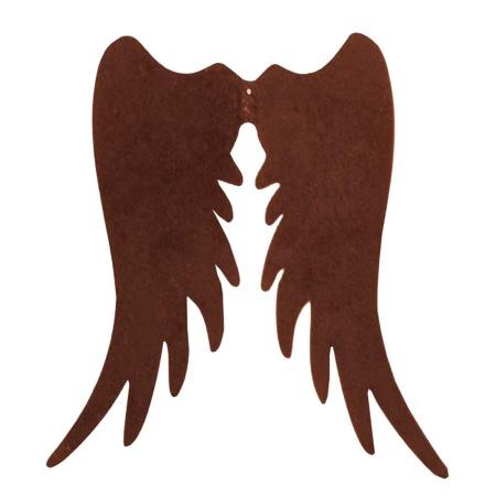 Metall Engel Flügel Rost 56 cm breite Weihnachtsdeko