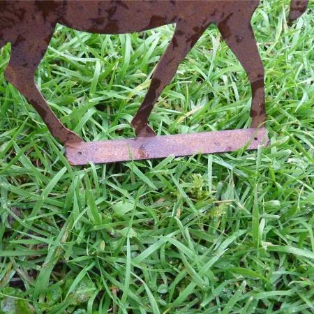 Elch Metall Edelrost Bastel Deko 18 cm