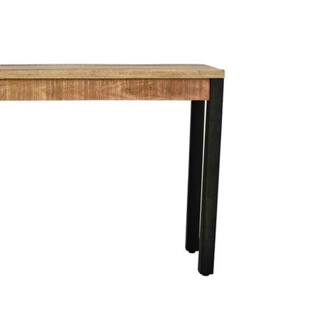 Konsole Tisch Holz naturell Metall Vintage 120x40 cm