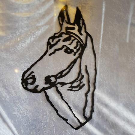 Pferdekopf handlackiert schwarz