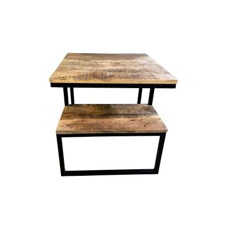Design Beistelltisch Vintage Holz Grovy 50 cm